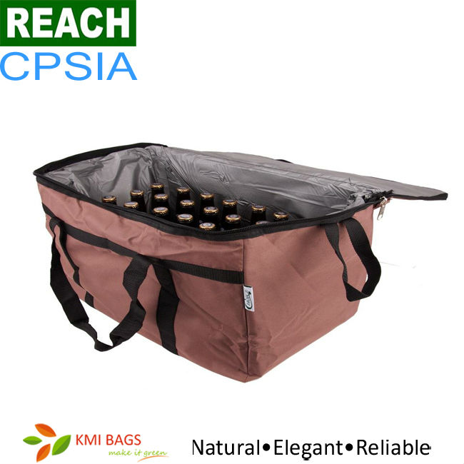 ISO9001 Disposable 600D Polyester 6 Bottle Cooler Bag
