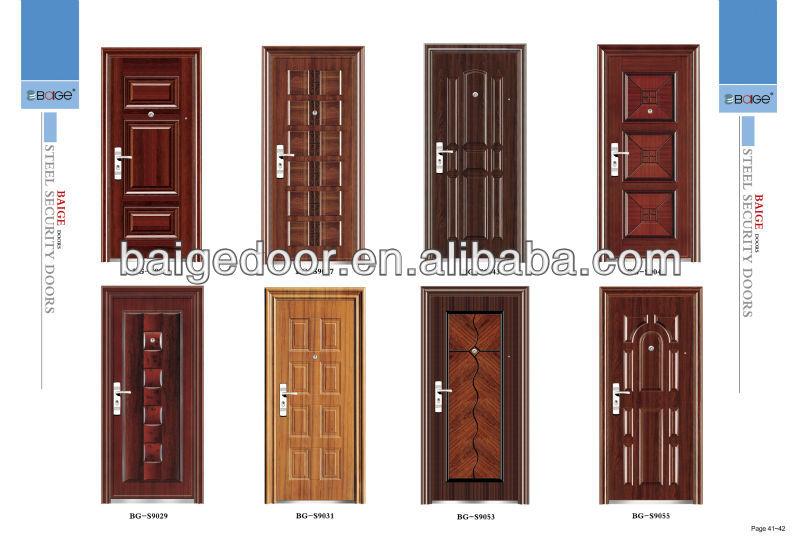 Bg s9080 steel safety iron main door design buy steel safety door safety iron door safety iron - Safety door designs for home ...