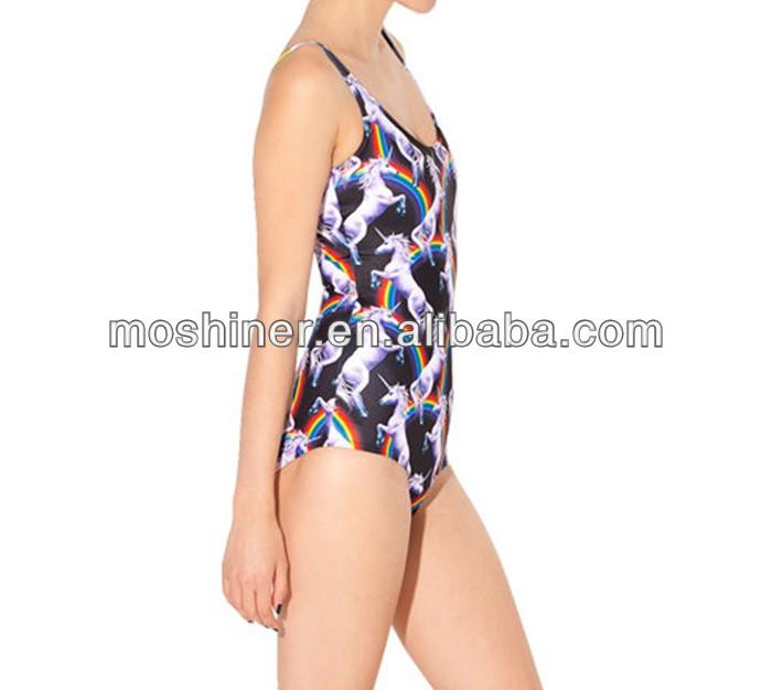 2013 cover,ups tankinis ataque del unicornio traje de baño,limited impresión digital bañador