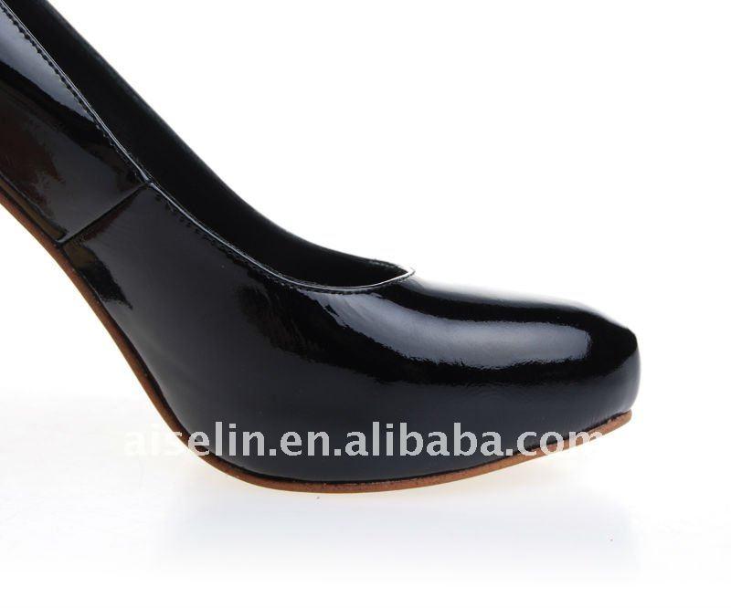 Fornecimento de dança sapato de salto baixo por Paypal navio da gota grande sapato pés das mulheres
