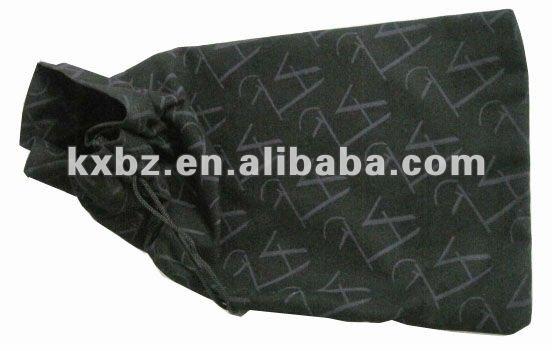 black single side drawstring cotton bag