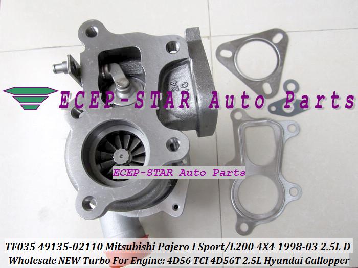 ECEP TF035 49135-02110 Turbo Turbocharger For Mitsubishi Pajero I Sport L200 4X4 2.5LD 1998-03 HYUNDAI Gallopper 2.5L 4D56 TCI 4D56T with gaskets.JPG