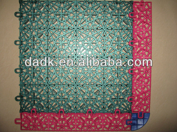 2014 Hot Sale modular tile outdoor PP interlocking plastic Basketball Flooring