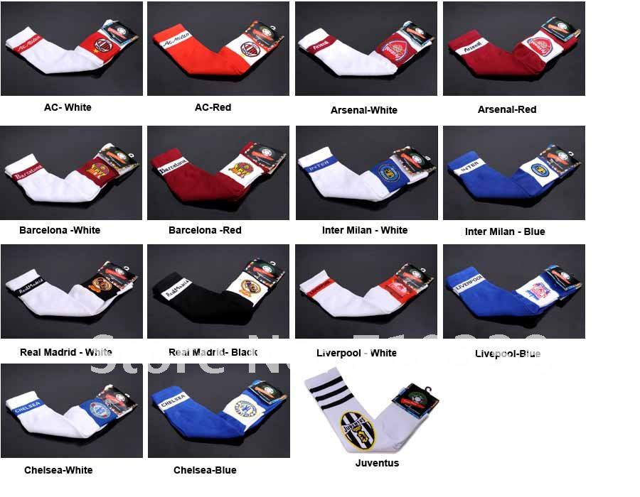 Free Shipping Chelsea club soccer socks men's football Socks high knee stokcing Sports nylon soccer stocking sports accessories