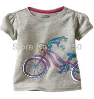 Футболка для девочки summer wear t-shirt for baby girl children clothing kid wear clothes girl's 100%cotton fashion shirt 1pcs 1329