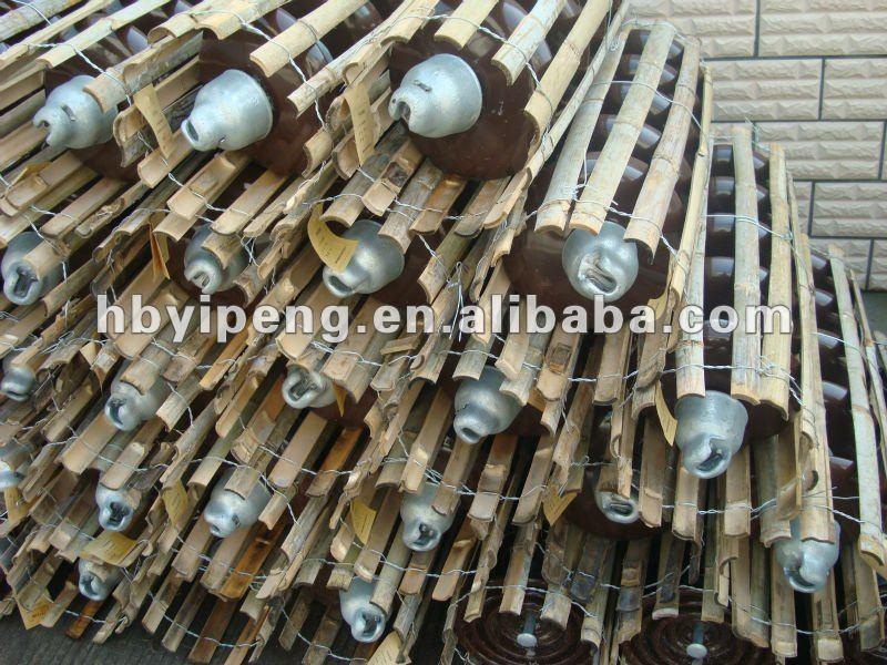 Ansi 52 3 Disc Suspension Porcelain Insulators With Cap Ceramics Disc Insulator Fitting View