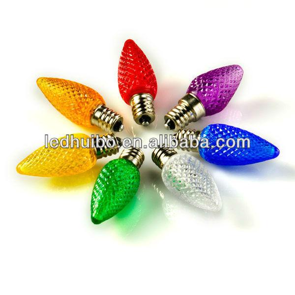 C7 0.3W replacement multicolor bulb light C7 led christmas lights