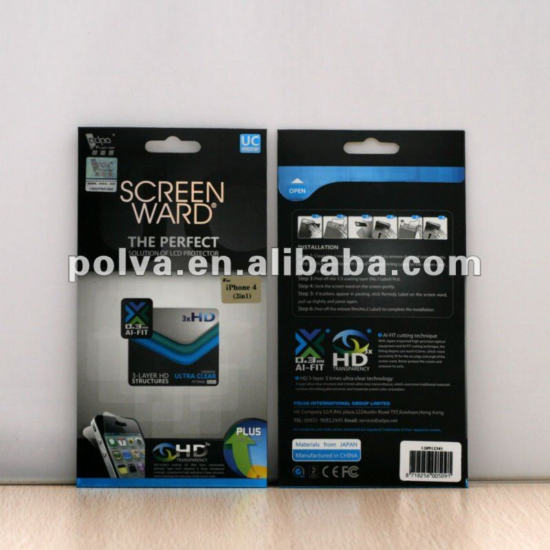 Hot selling for apple iphone5 screen protector with design