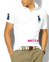 Футболка New Mens T Shirt +Men's Short Sleeve T Shirt slim fit, Polo shirt, cotton, drop shipping