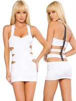 Cut Out Zipper Back Mini Dress