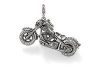 New! 925 sterling silver / beautiful / silver motorcycle pendant charm LP234