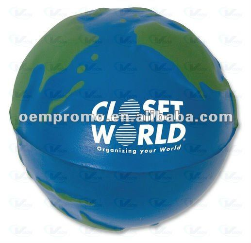 Imprinted eco friendly promotional round PU foam stress ball