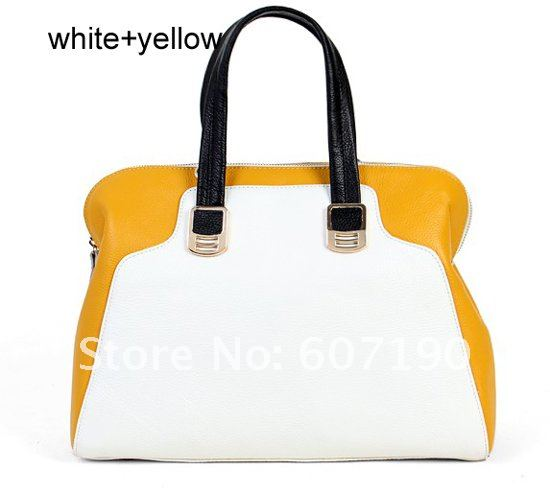 2012 New arrival High quality 100% genuine  leather designer inspired handbags,hotsale tote patchwork bags,MBL130,free shipping