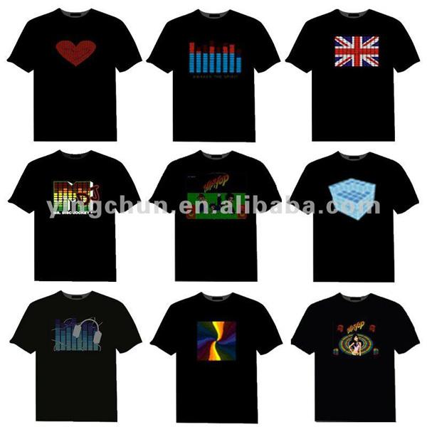 Factory manufacturer sound active Led tshirt