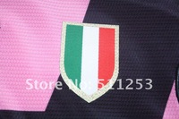 Embroidery High Quaity Pink Juventus 2013  Soccer Jersey , club soccer Uniforms Kit,football wear