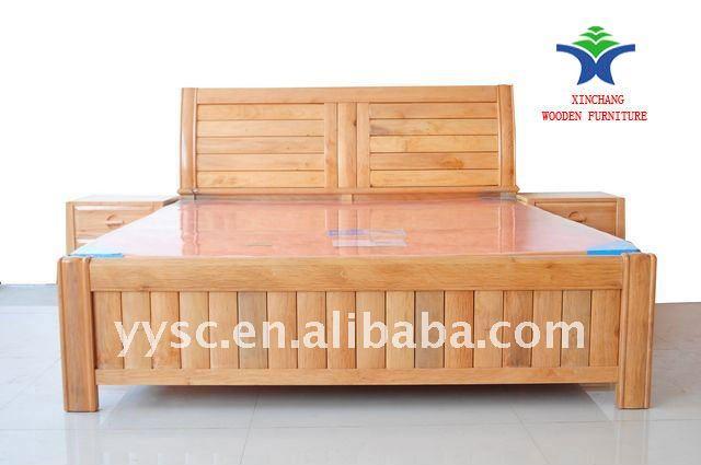 Modele De Lit En Bois Rond : Moderne style reine lit en bois-Lots de literie-ID de produit