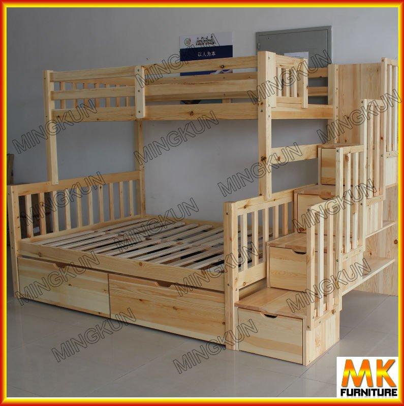 Crian as cama de beliche do pinho com escada e gaveta - Como hacer literas ...