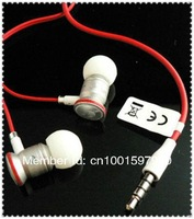 3.5mm InEar Earbuds Earphone Earset Headphone Headset w/ mic for HTC Sensation iPhone 3g 3gs 4g 4s iPod Red White
