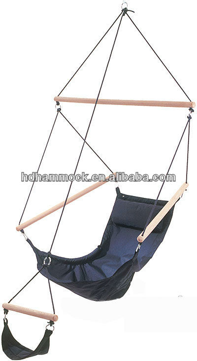Wooden pole swing hanging chair for bedrooms, View hanging indoor ...