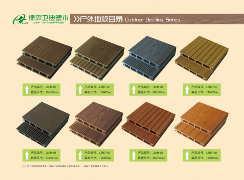Water Proof WPC Decking For Outdoor