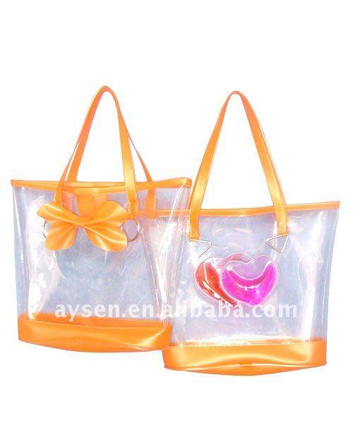 Moda pvc saco de mão praia