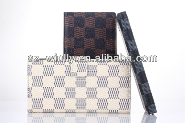Grid Pattern Stand PU Leather cell phone Case with Card Holder mobile phone case for Sony Xperia Z2