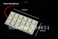 Источник света для авто 300sets/lot PCB 18SMD 5050 LED Auto Car Top Dome Light For Interior Reading Roof light with T10 BA9S S8.5 Festoon Bulb Adapter