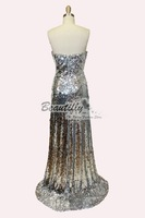 Платье для вечеринки Split Long Silver Party Evening Gown Women's Dresses JH248