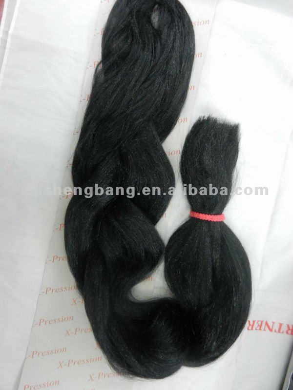 100% Kanekalon braids of x-pressin for hair extension