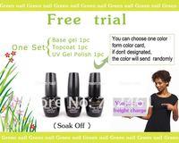 Лак для ногтей new 2013 3bottle sets soak off uv gel nail polish led gel gel polish nails color gel base topcoat varnish nail art