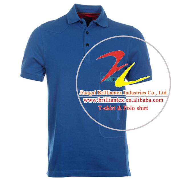 Mens Plain Pocket Dry Fit Polo Shirt
