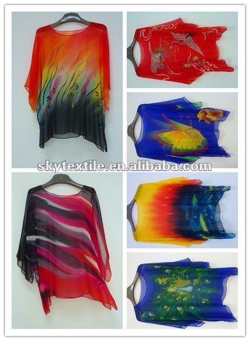 Hand Painted Silk Dresses Silk Hand Painted Dress Fabric
