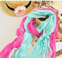 Женский шарф! Lowest Price Women Winter Scarves Korean Fashion Candy Color Long Wrinkled Scarves 22 Colors Price