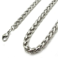 Колье-цепь 6mm 28 Inch Mens Womans Silver Twist Rope Chain Stainless Steel Links Necklace NL466 New Gift