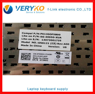 Keyboard laptop 14R N4110 US Black SG-49950-XUA