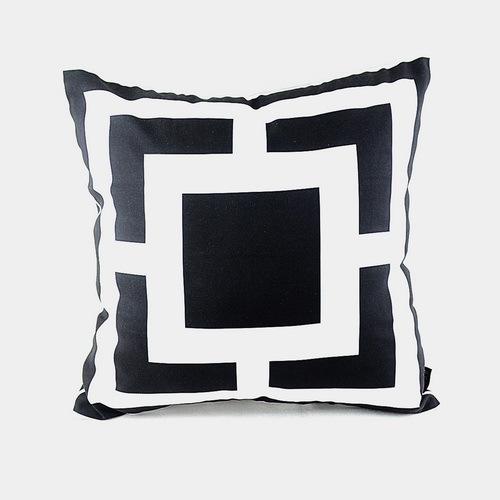 "/'SVEN/' Black /& White COTTON CUSHION COVER 17/""//43cm IKEA Fabric Grey White,Black"