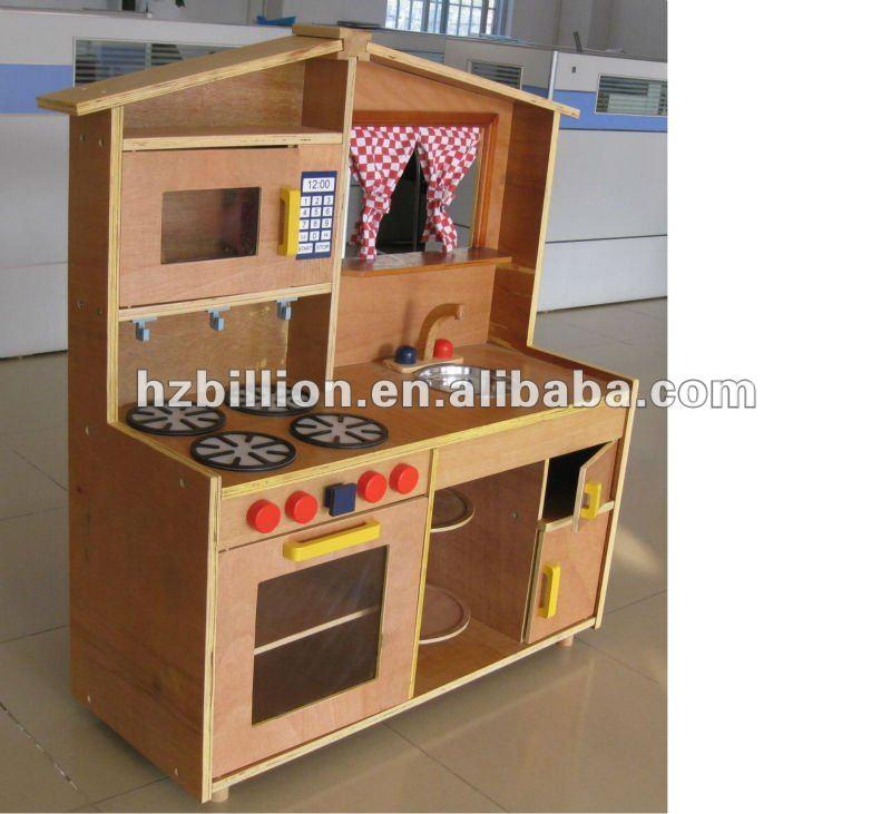 Conjunto de cozinha brinquedos infantis de madeira m veis - Cocinas de juguetes de madera ...