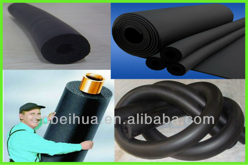 Insulation material Rubber foam pipe NBR / PVC LOW CONDUCTIVITY