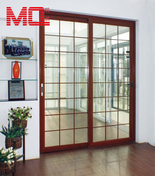 Aluminum Stainless Steel Safety Door Design With Grill Kitchen Glass Grids Door Buy Safety