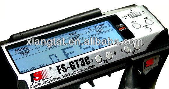 Flysky FS-GT3C FS GT3C 2.4G 3CH Gun RC Car Transmitter W/ Receiver:TX,battery,USB Cable,FS-GT3B Up