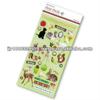 Petit Poche Sticker Animal _ animal collection _ sticker printing _ stationery item _ handmade _ japanese sticker
