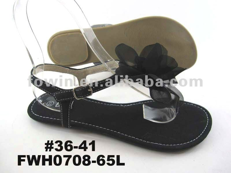 2013 Ladies fashion flat flower sandals