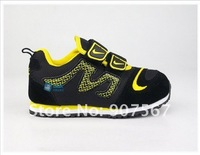 High quality black colour sports baby shoes, casual kid shoes, comfortable infant shoes 3 colour