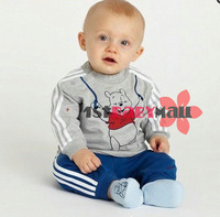 Комплект одежды для мальчиков Retail one set baby boy cartoon clothing set Long sleeves bear sets infants tracksuits