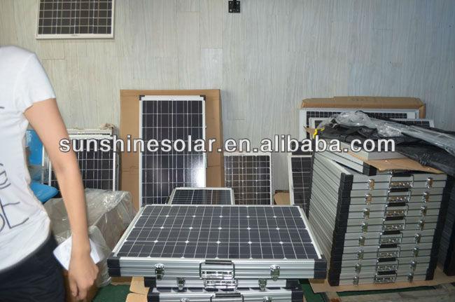 100 w panneau solaire pliable portable pliage kit. Black Bedroom Furniture Sets. Home Design Ideas