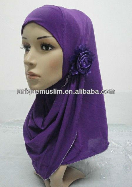 H170 latest flower muslim hijab,hijab scarf