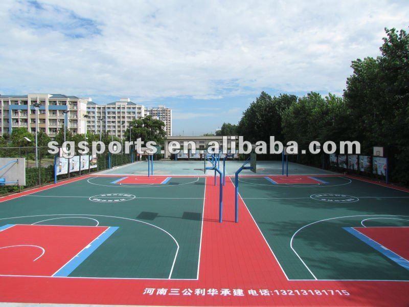 Professional Anti-slip/Anti-agging and multi-purpose PP modular plastic suspended interlocking basketball flooring prices
