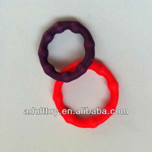 Dupla tubos de silicone anel de pénis com contas anel peniano potenciador pênis anel peniano para o sexo masculino