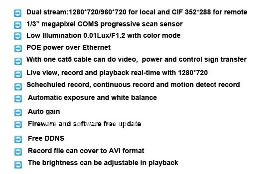 CCTV security 1.3 Megapixel IR IP camera IR rang for 40m
