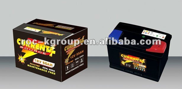 Dry charged lead acid automotive battery 60AH